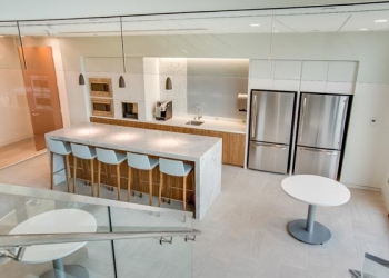 Quartz and Marble Corporate Kitchen Surface One