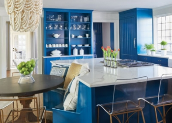 Surface-One-Blue-Kitchen-White-Quartz-Countertops-2