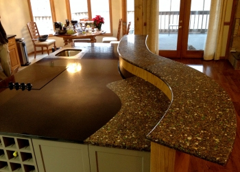 Granite with Vetrazzo Inlay