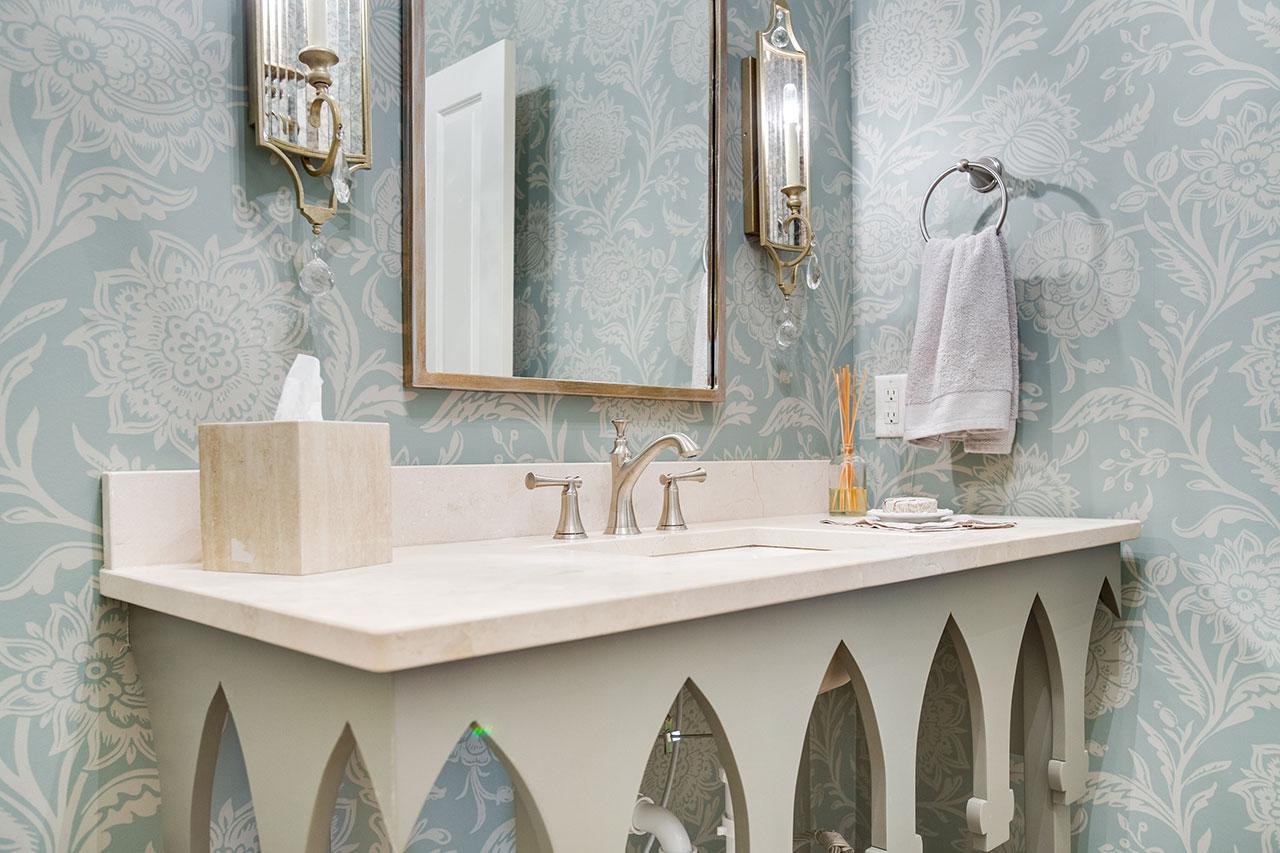 Crema Marfil Honed Marble Bathroom Countertop