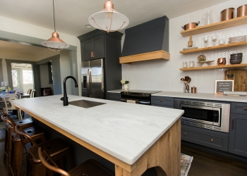 Alabama-White-Marble-Countertops-with-Blue-Cabinets-Lauren-Brown-Twin-Construction-3