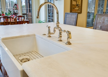Honed Marble Kitchen Countertop