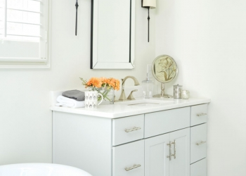 Mystery White Marble Bathroom