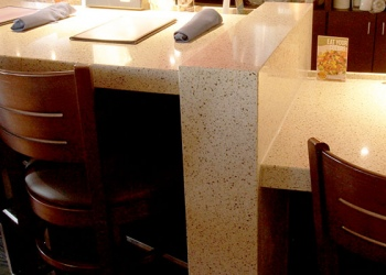 Mitered Edge Restaurant Counter
