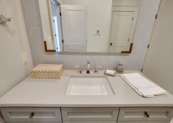 Cosmos Quartz Light Silt Bathroom Countertops Surface One