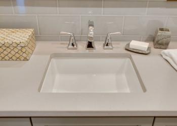 Surface One Cosmos Quartz Light Silt Bathroom Countertops