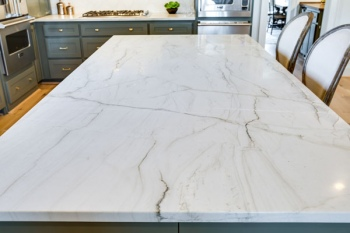 Aria Quartzite Kitchen Island