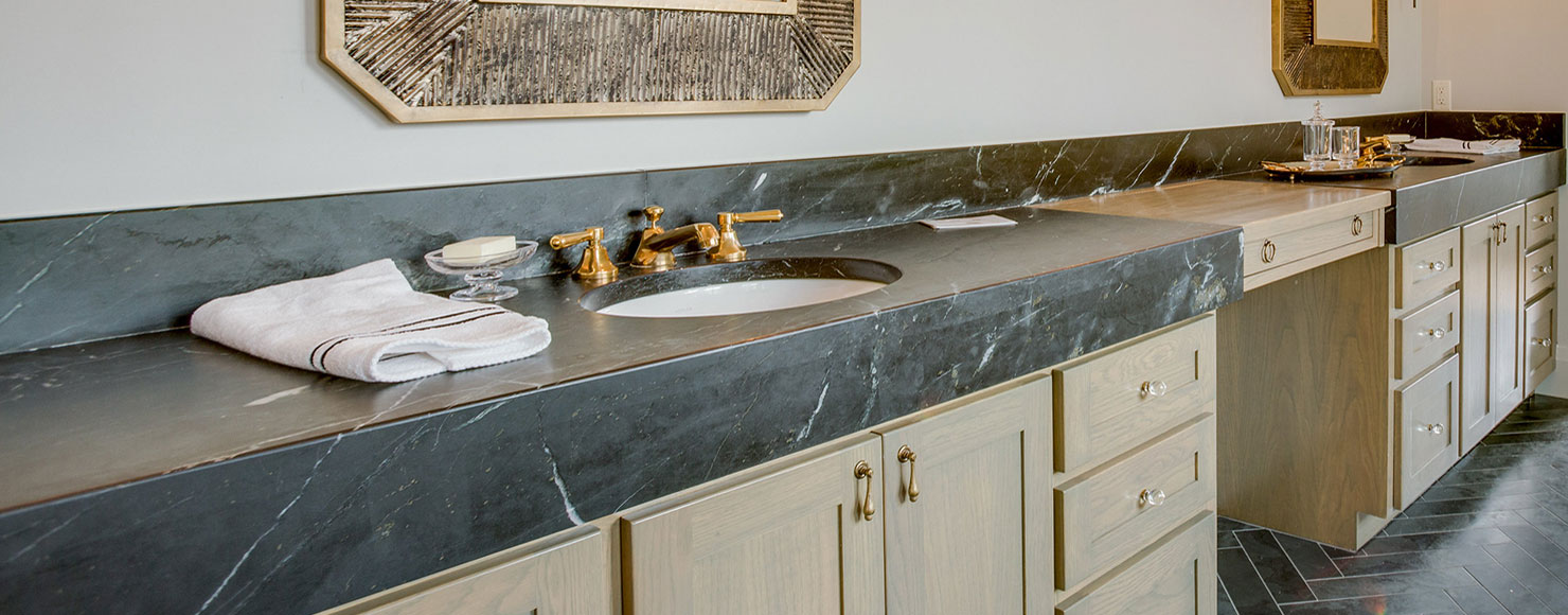 Surface One Soapstone Bathroom Countertop Slider