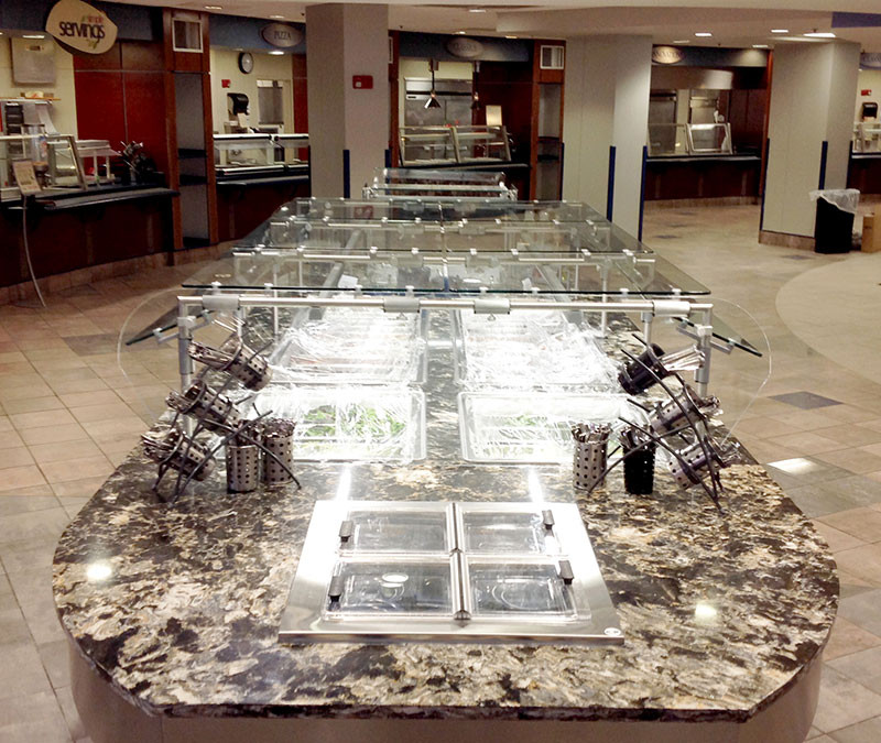 Surface One Installs Cambria Quartz in Samford University Caf
