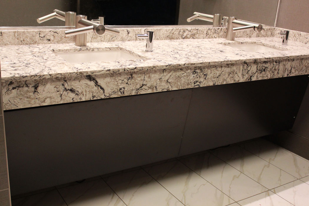 Quartz Bathroom Countertops : Wind creek casino montgomery cambria quartz surface one
