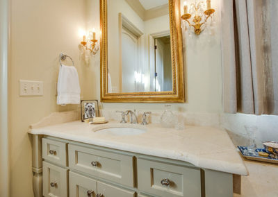 Surface One Honed Marble Bathroom