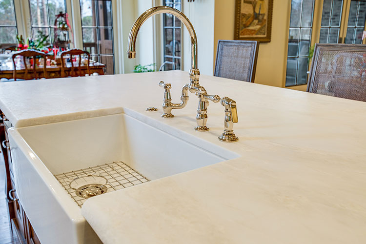 Honed Marble Countertops In Kitchen And Bathroom Surface One