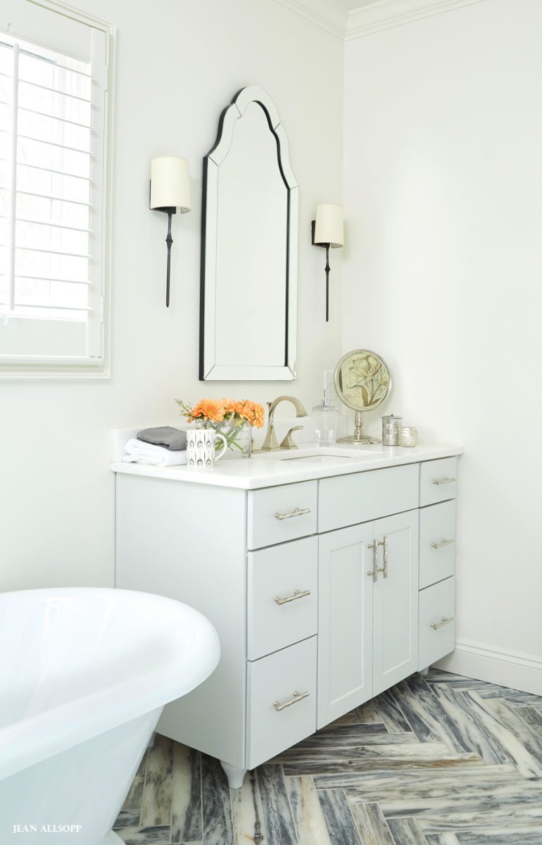 Pin It On Pinterest. Surface One · Mystery White Marble Bathroom Countertops