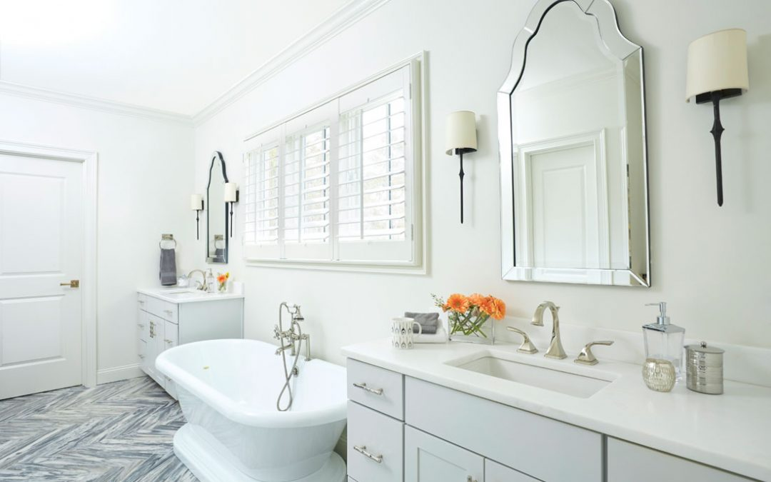 Mystery White Marble Bathroom Countertops